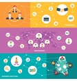 Business meeting horizontal banner vector image vector image