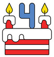 cake united state independence day related icon vector image vector image