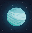 color space landscape background with view uranus vector image vector image