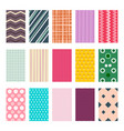 colorful retro geometric textile or paper vector image vector image