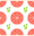 colorful seamless pattern of delicious grapefruit vector image vector image