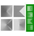 concentric squares geometric element set of 4 vector image vector image