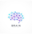 creative idea concept design brain logotype vector image