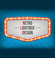 creative of retro light bulb vector image vector image