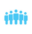 crowd of five people icon silhouettes social vector image vector image
