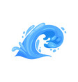 curling wave with crests and curlicues nature vector image vector image