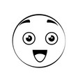 cute cartoon face vector image vector image