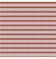 Detailed knitted striped red-and-white pattern vector image