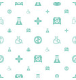 discovery icons pattern seamless white background vector image vector image