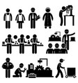 factory worker engineer manager supervisor vector image