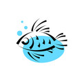 fish in water logo design templateseafood vector image