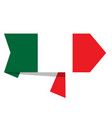 flag of italy on a label vector image vector image