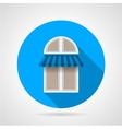 Flat icon for arch window with awning vector image