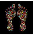 footprint shape vector image vector image