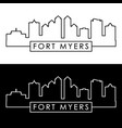 fort myers skyline linear style editable file vector image vector image
