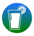 glass of juice icons white icon in bluish vector image