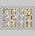 gold frames set christmas theme square shaped vector image vector image