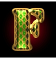 golden and green letter f vector image
