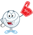Golf ball with foam finger vector image vector image