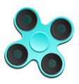 hand spinner edc fidget toy for increased focus vector image vector image