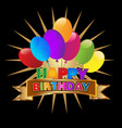 happy birthday party invitation icon vector image