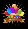 happy birthday party invitation icon vector image vector image