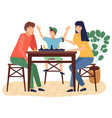 happy family spend time at home people playing vector image vector image