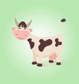 happy funny cow creative farm cute vector image