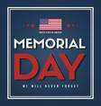 happy memorial day national american vector image vector image