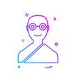hindu pandit icon design vector image