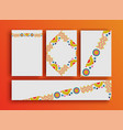 holiday event card boho frames template set vector image