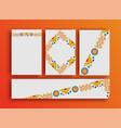 Holiday event card boho frames template set