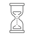 hourglass thin line icon development and business vector image vector image
