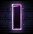 iluminated neon label icon vector image