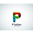 Letter P logo vector image vector image