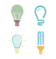 light bulb symbols icons cartoon paint set vector image