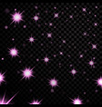 light stars on black background vector image vector image