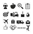 logistics icon simple vector image vector image