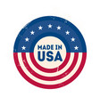 made in usa label with usa flag colors and vector image vector image
