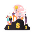 making money concept for web banner vector image vector image