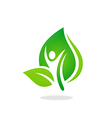 man people leaf spa ecology nature logo vector image vector image