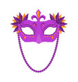 mardi gras mask isolated on white background vector image vector image