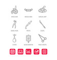 medical mask scalpel and dental pliers icons vector image vector image