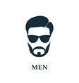 men in sunglasses style haircut and beard icon vector image vector image