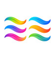 modern colorful flow abstract waves set vector image