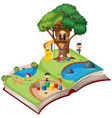 open book playground theme vector image