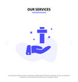 our services hand celebration christian cross vector image
