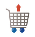 price hike arrow up in shopping cart infographic vector image vector image