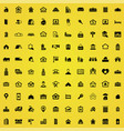 real estate 100 icons universal set for web and ui vector image