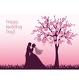 silhouettes bride and groom vector image vector image